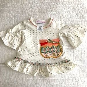 Bonnie Baby 2 pc baby girl outfit, 3-6 mos